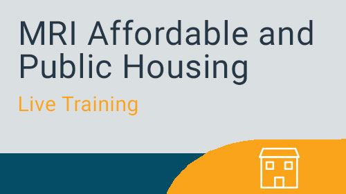 Affordable and Public Housing - Standard Configuration Live Training