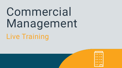 Commercial Management - Recoveries Live Training