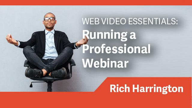 Running a Professional Webinar