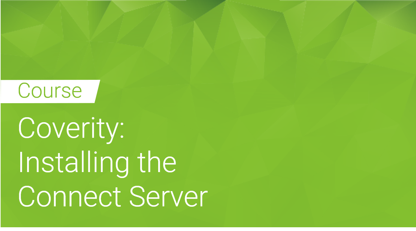 Coverity: Installing the Connect Server