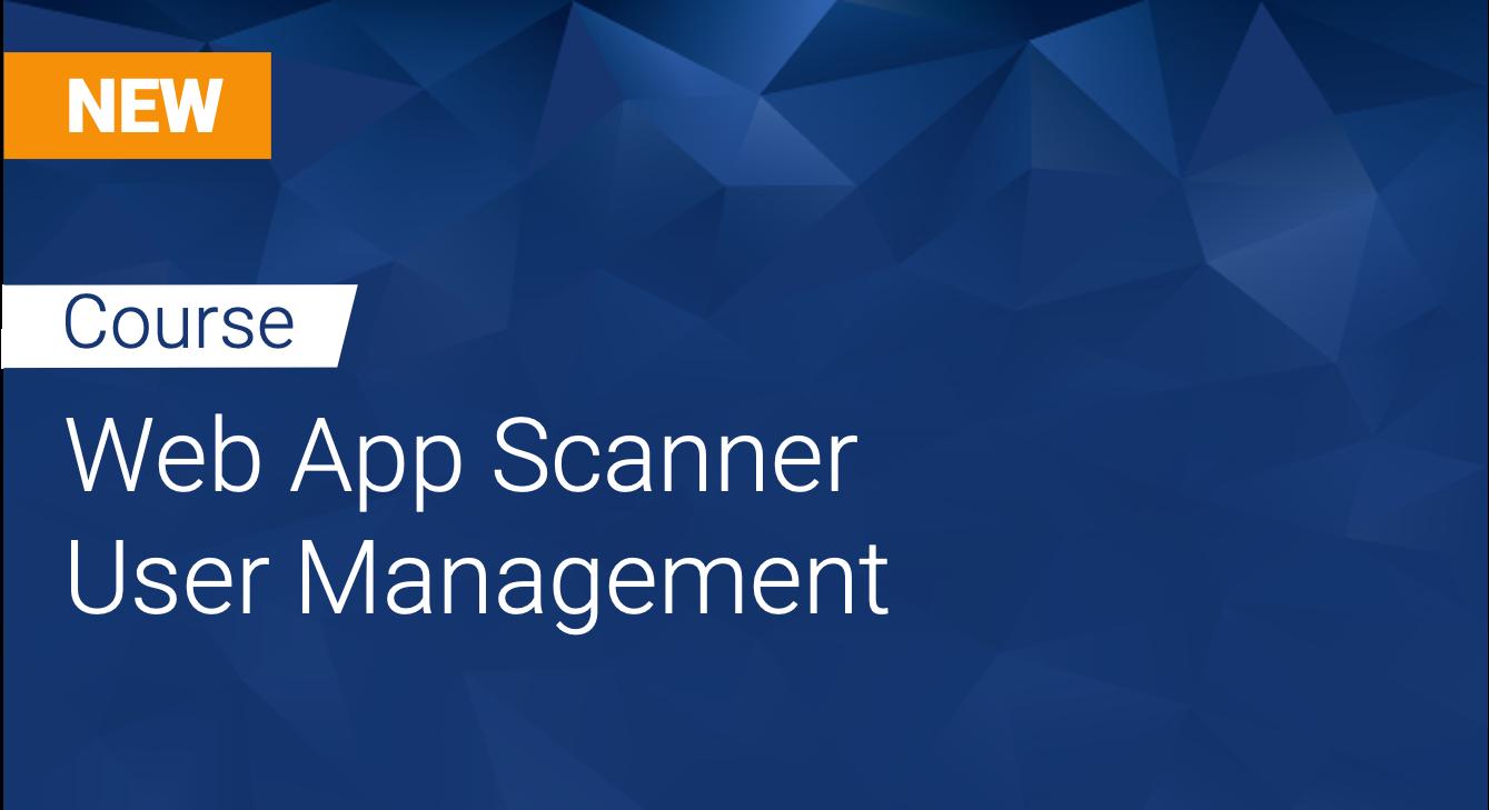 Tinfoil Web App Scanner: User Management