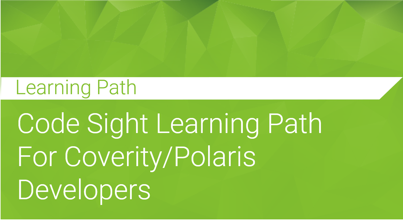 Code Sight Learning Path for Developers
