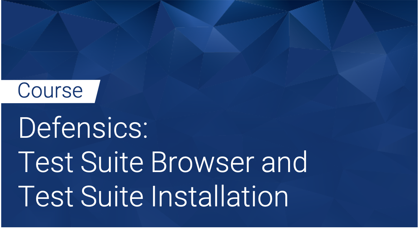 Defensics: Test Suite Browser and Test Suite installation