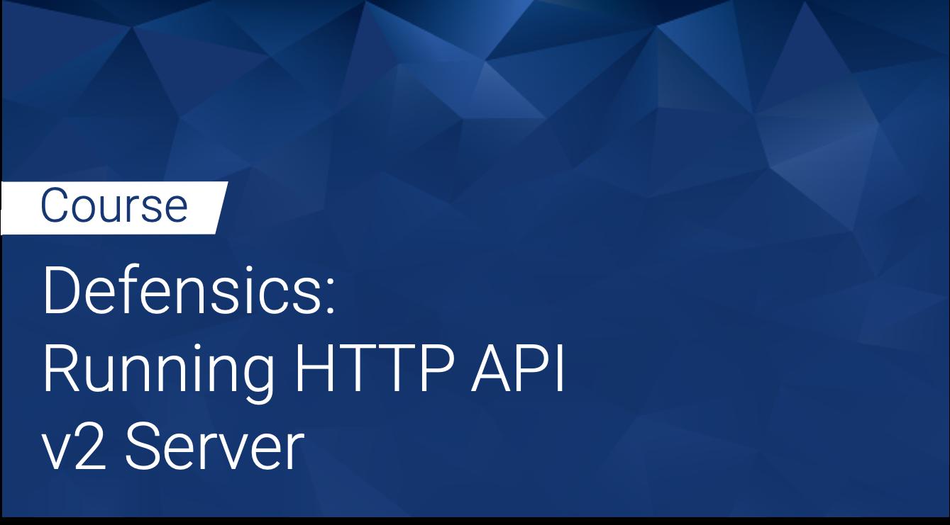 Defensics: Running HTTP API v2 Server