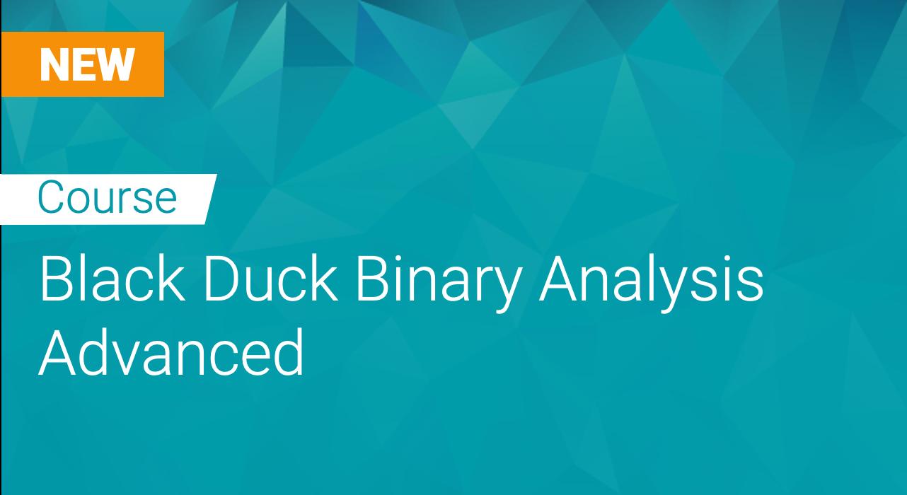 Black Duck Binary Analysis Advanced