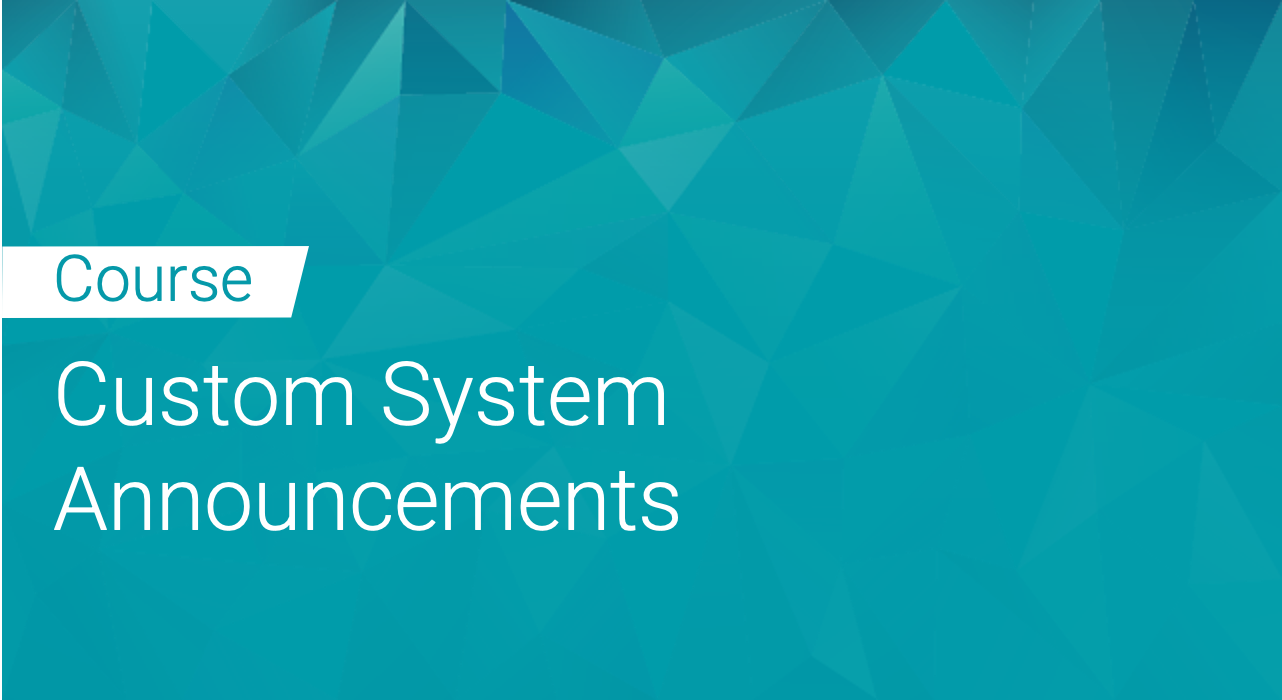 Black Duck: Custom System Announcements