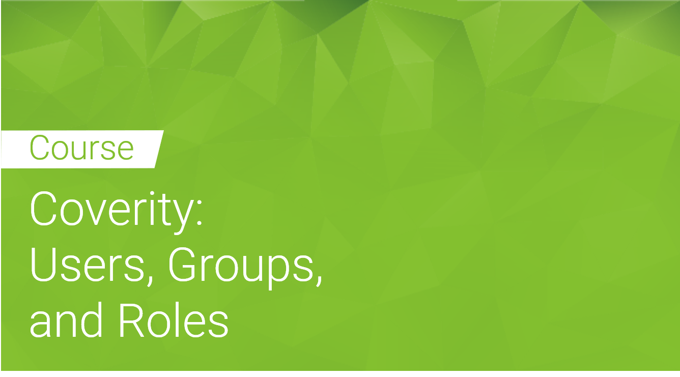 Coverity: Users Groups and Roles