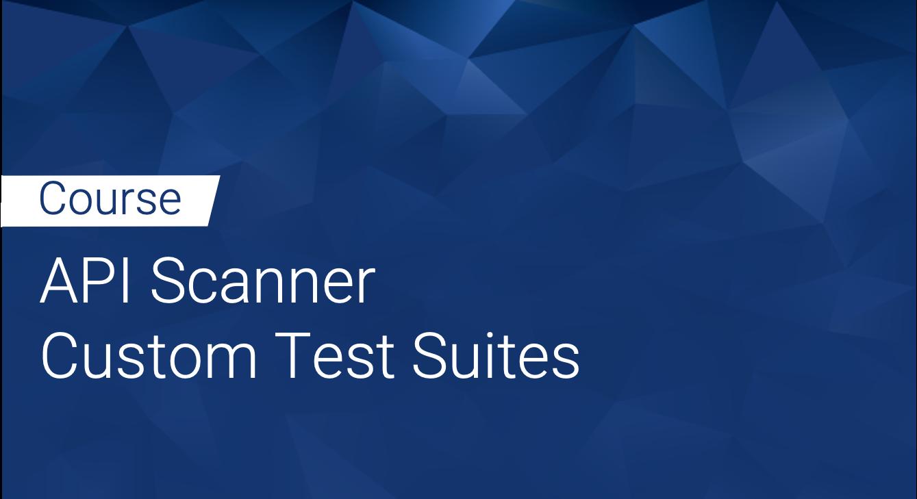 Tinfoil API Scanner: Custom Test Suites
