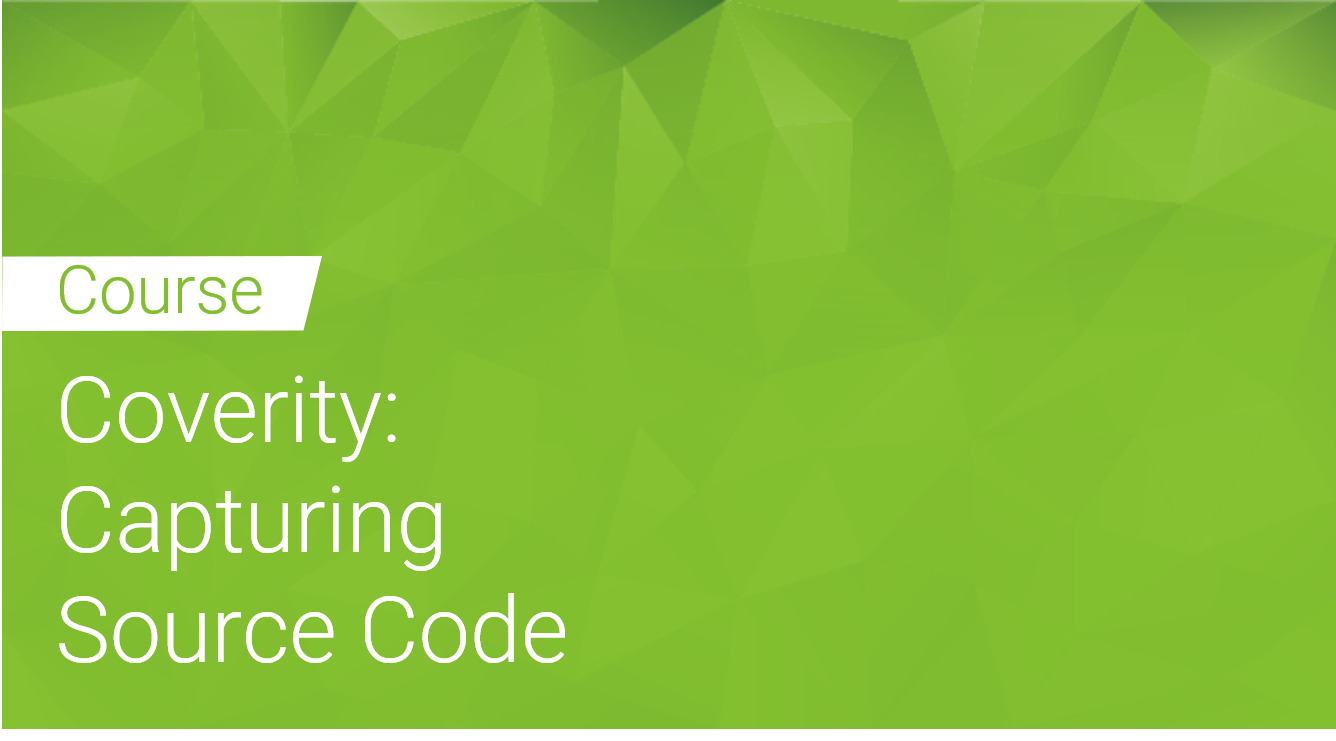 Coverity: Capturing Source Code