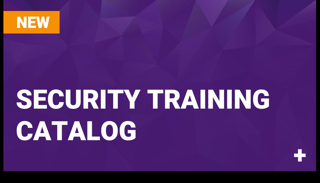 Security Training Catalog