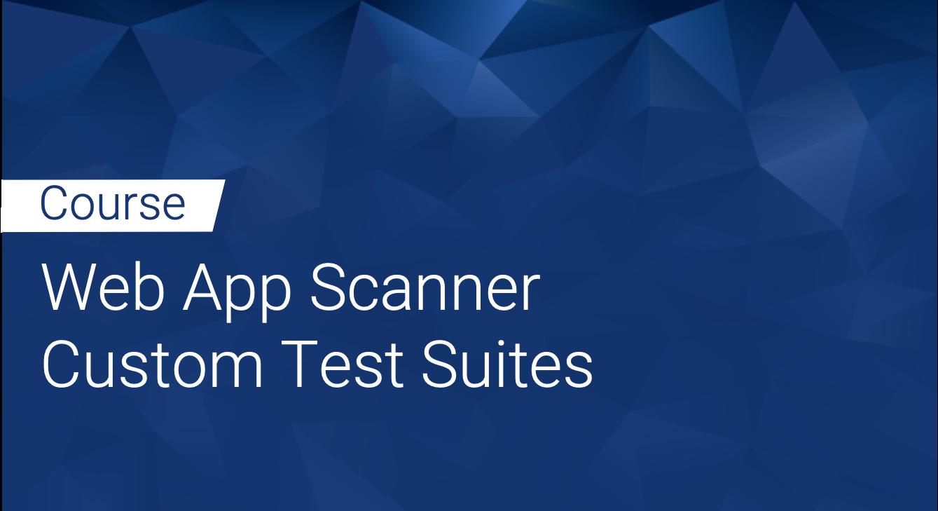 Tinfoil Web App Scanner: Custom test Suites
