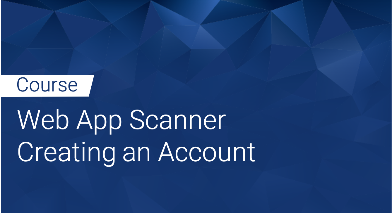Tinfoil Web App Scanner: Creating an Account