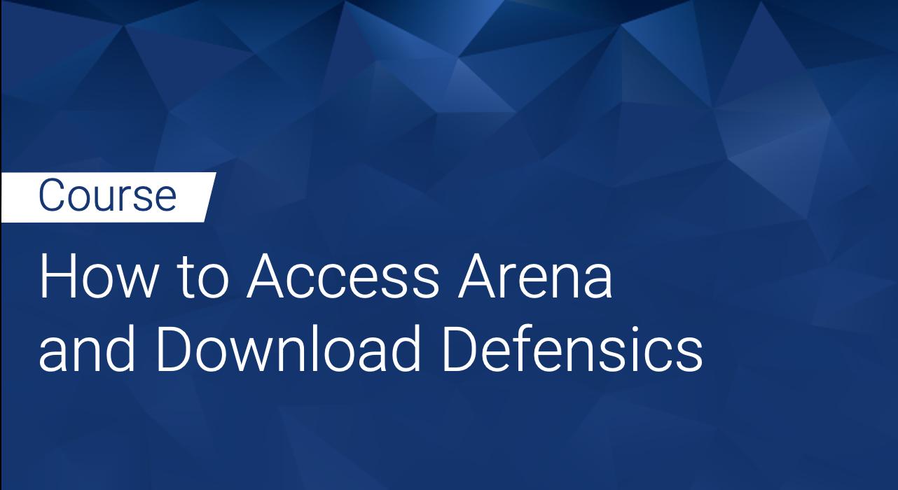 Defensics: How to Access Arena and Download Defensics