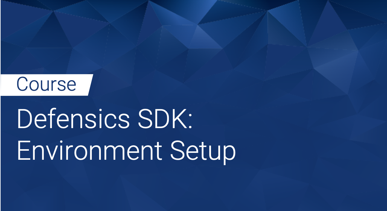 Defensics SDK: Environment Setup