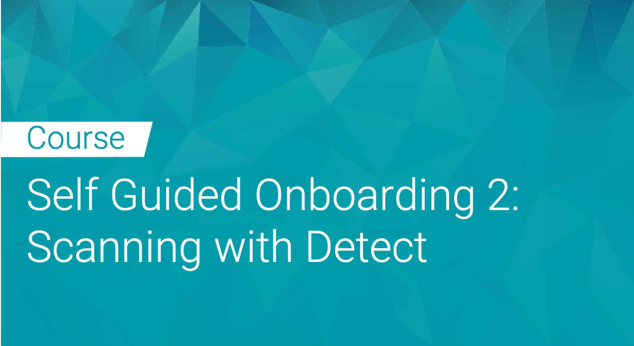 Black Duck: Self Guided Onboarding Part 2 - Scanning with Detect