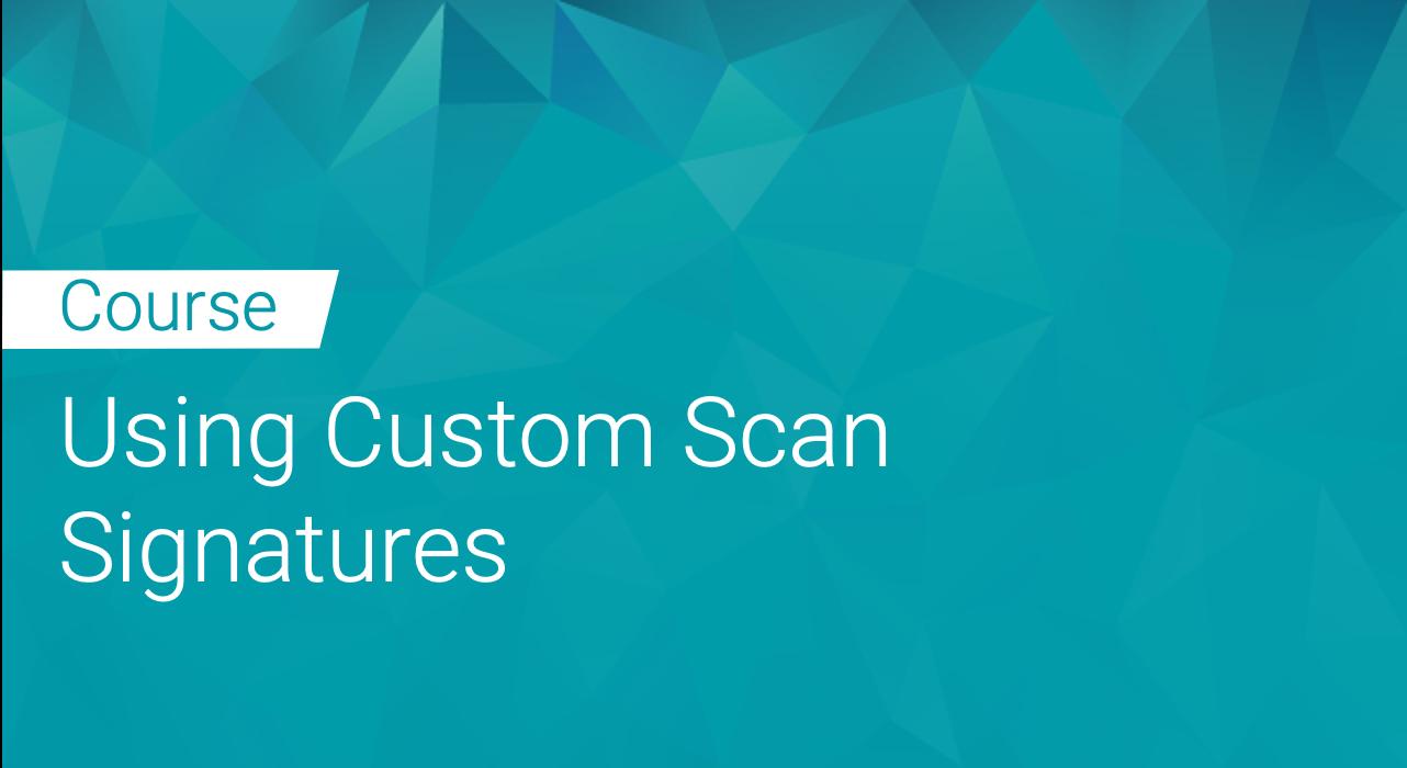 Black Duck: Using Custom Scan Signatures