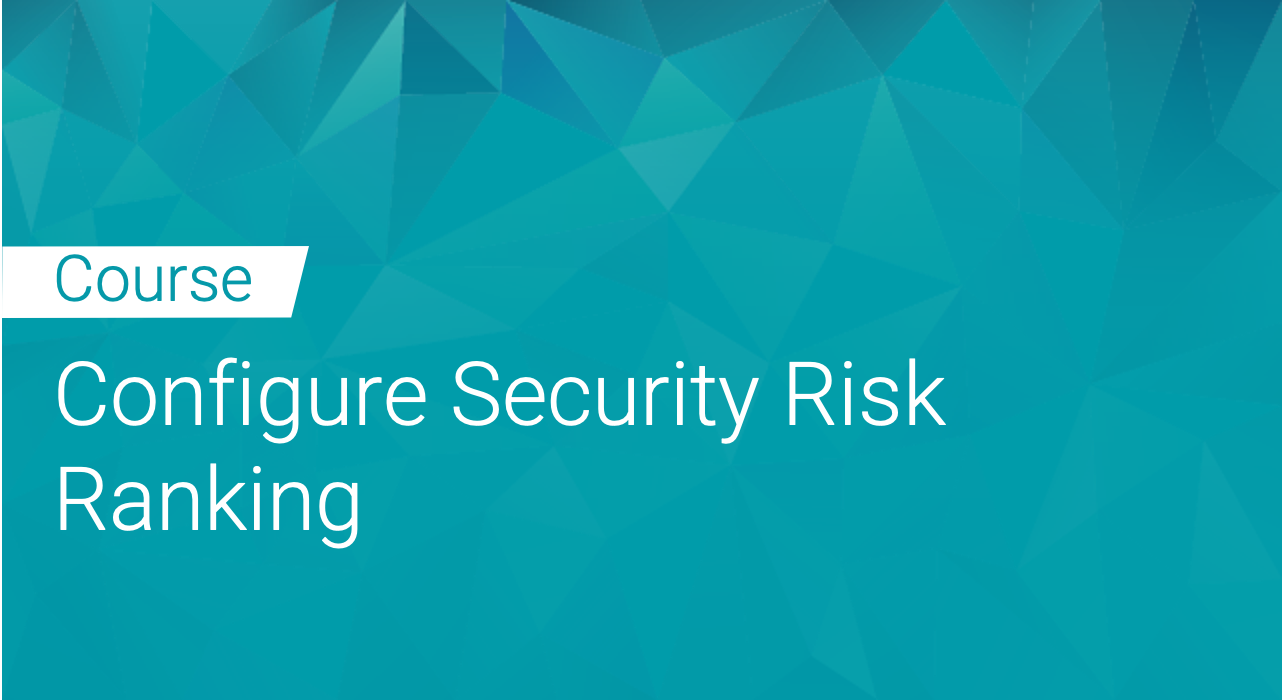 Black Duck: Configure Security Risk Ranking