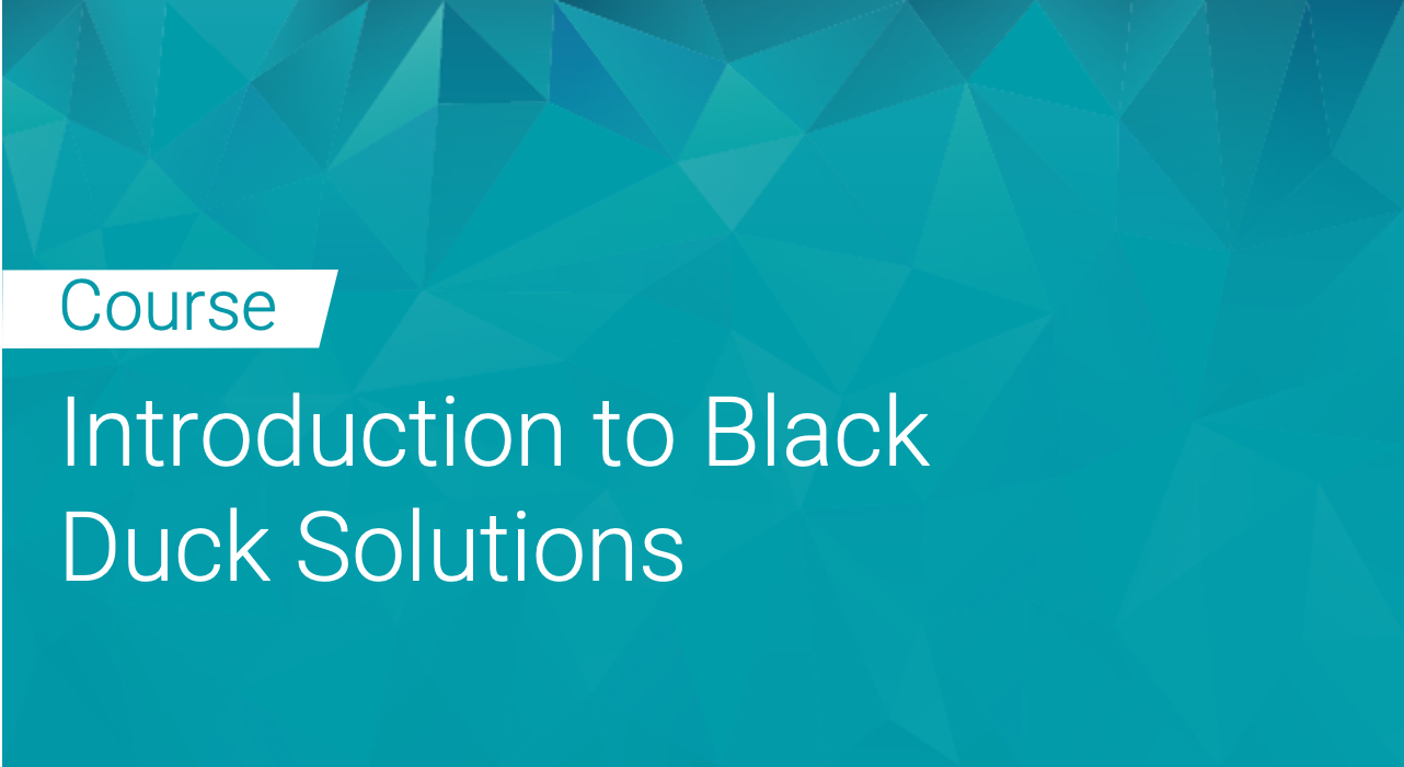 Introduction to Black Duck Solutions