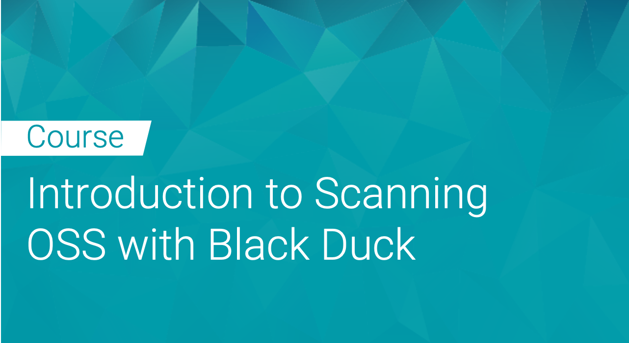 Introduction to Scanning Open Source Software with Black Duck