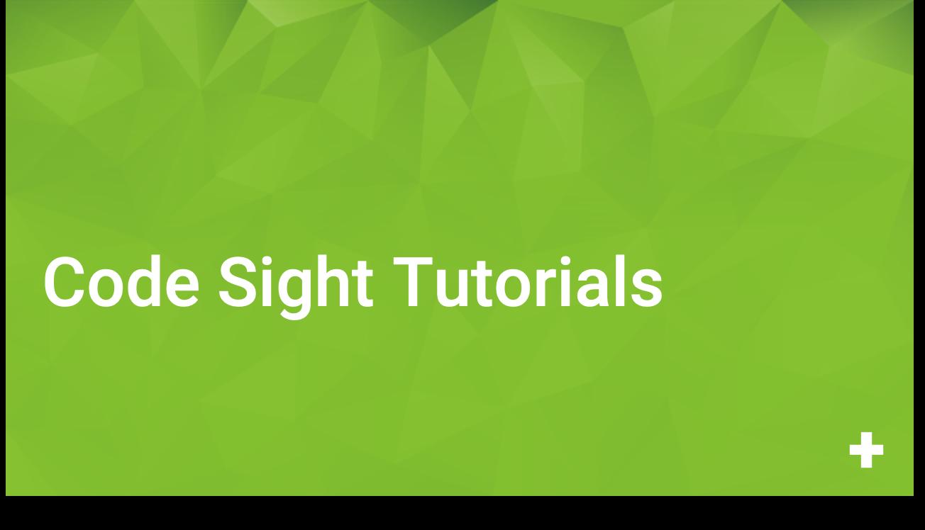Code Sight Tutorials