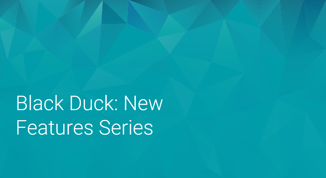 Black Duck: New Features Series