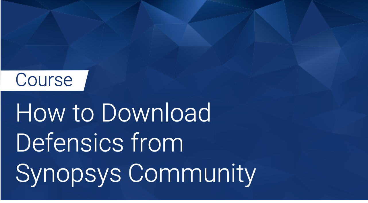 Defensics: How to Download Defensics from Synopsys Community