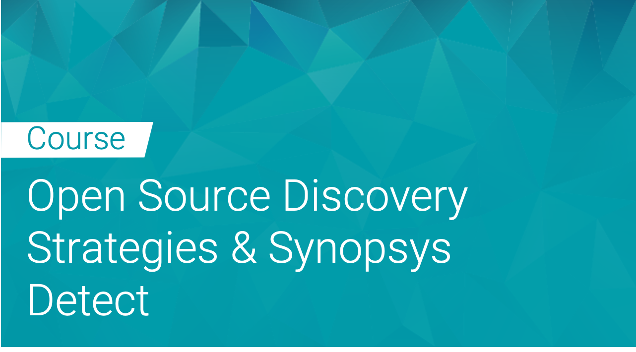 Black Duck: Open Source Discovery Strategies and Synopsys Detect
