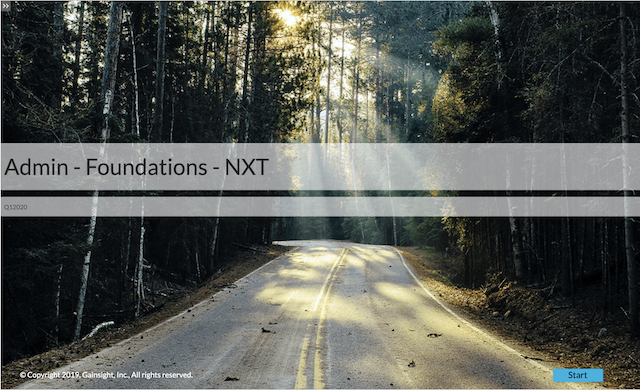 Admin - Foundations - NXT