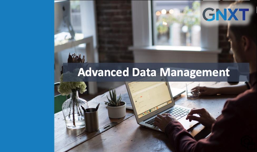 Admin - Advanced Data Management - Sep 2019