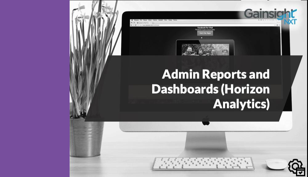 Admin Reports and Dashboards (Horizon Analytics)