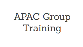 Asia-Pacific (APAC) Online Group Training, May 20-22