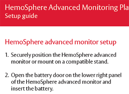Acumen IQ on HemoSphere™ Advanced Monitoring Platform Setup Guide