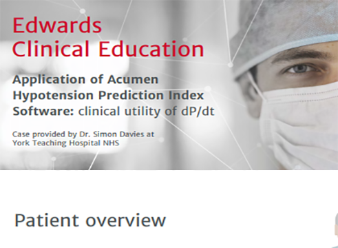 Acumen™ Hypotension Prediction Index Case Study 1
