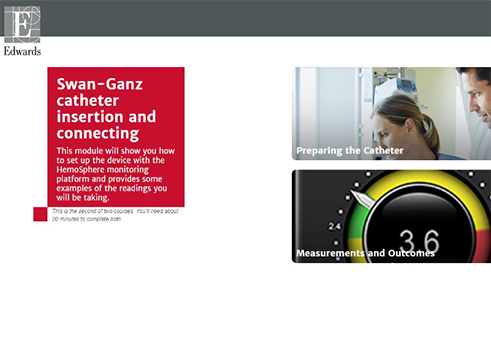 Swan-Ganz™ Catheter Insertion and Connecting on HemoSphere eLearning Module