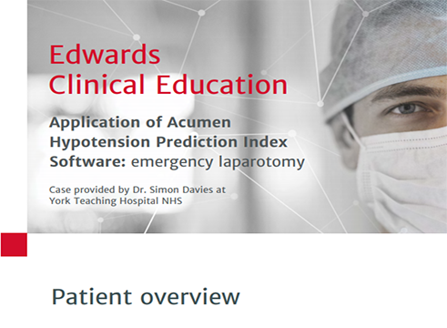 Acumen™ Hypotension Prediction Index Case Study 3
