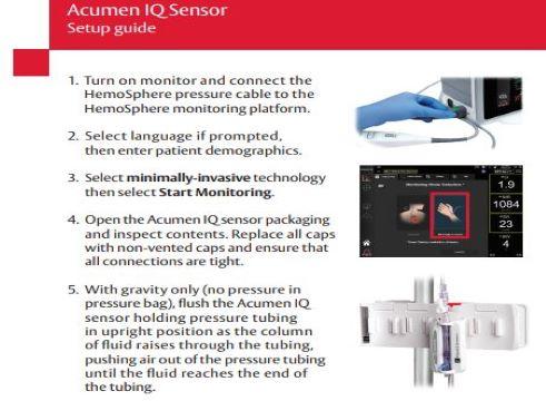 Acumen IQ sensor setup guide