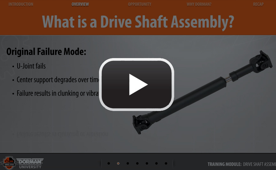 Drive Shaft Assembly Program