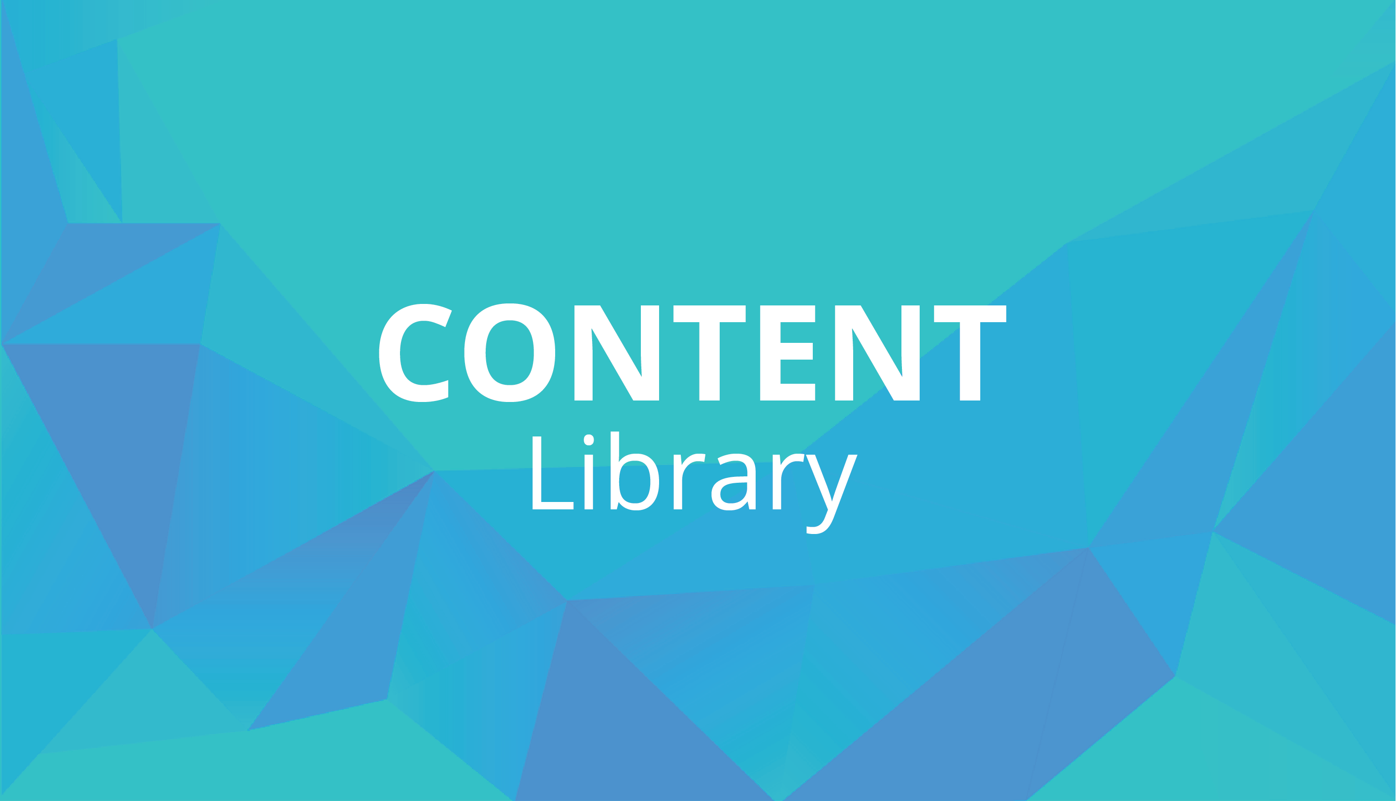 Access the content library for individual learning assets