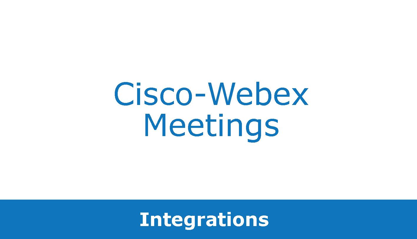 Cisco-Webex Meetings + Bluescape + Outlook