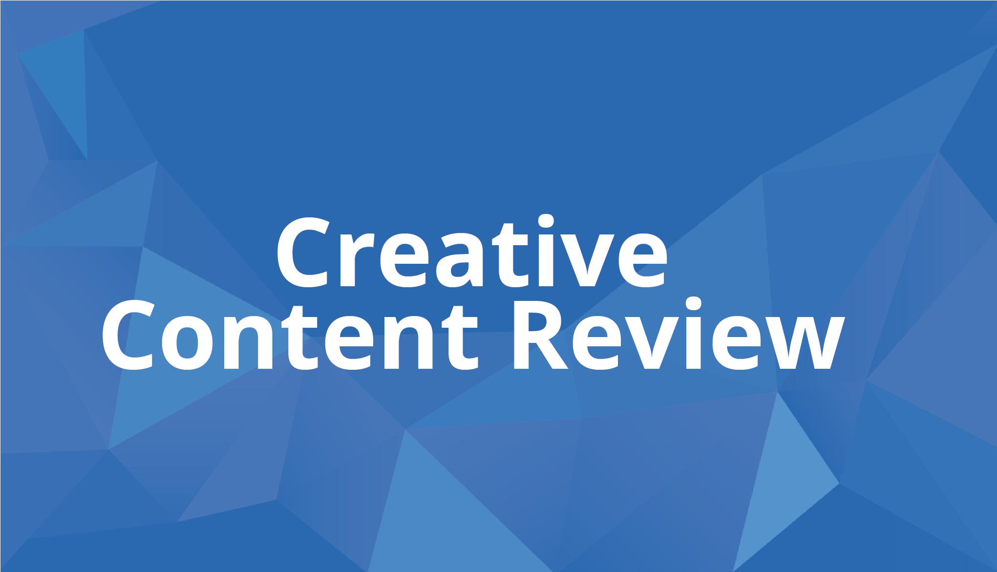 Use this workflow for streamlining the review process for creative content.